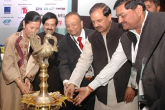 The Minister of State for Culture (Independent Charge), Tourism (Independent Charge) and Civil Aviation, Dr. Mahesh Sharma lighting the lamp to inaugurate the 'South Asia Travel & Tourism Exchange (SATTE)' - South Asia's leading B2B Travel and Tourism Trade Exhibition in New Delhi on January 29, 2016. 	The Secretary, Ministry of Tourism, Shri Vinod Zutshi is also seen.